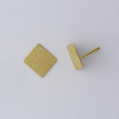 Detalhes do produto Base com Pino para Brinco Retângulo 1073