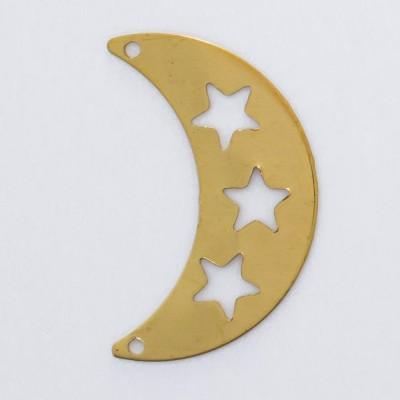 Detalhes do produto Meia lua vazada com 2 furos 21,05mmx13,41mm