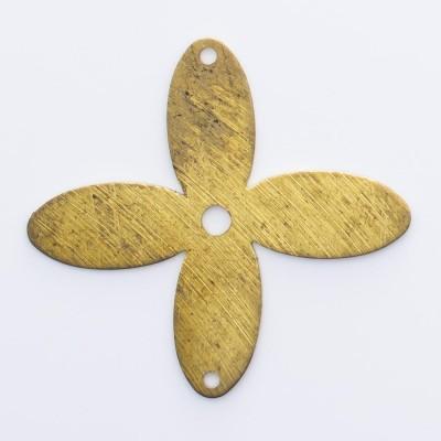 Detalhes do produto Flor 4 pétalas vazada com 2 furos 26,07mmx26,00mm