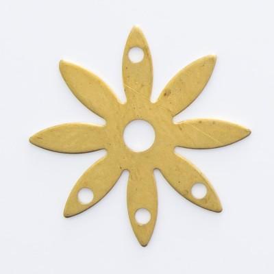 Detalhes do produto Flor 8 pétalas vazada e 4 furos 13,83mmx13,83
