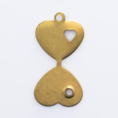 Detalhes do produto Coração dobrável com coração e argola 12,25mmx11,35mm