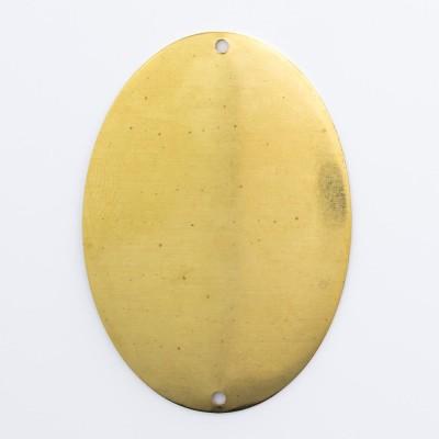 Detalhes do produto Oval abaulado com 2 furos 40,00mmx28,30mm