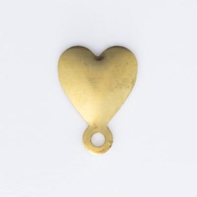 Detalhes do produto Coração com argolinha 9,00mmx6,60mm
