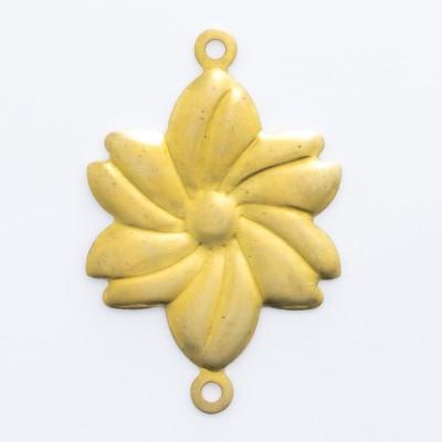 Detalhes do produto Flor com 2 argolinhas 22,72mmx15,03mm