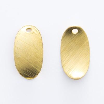 Detalhes do produto Oval abaulado com furo 11,15mmx6,10mm