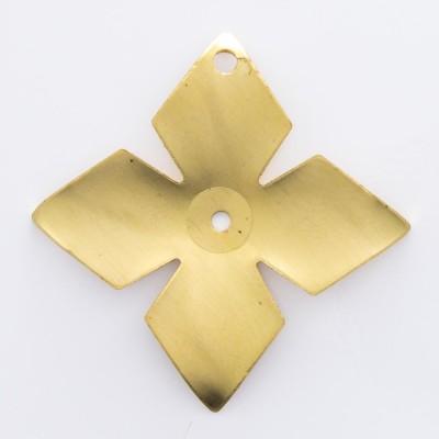 Detalhes do produto Flor 4 pétalas com 2 furos 23,63mmx23,63mm