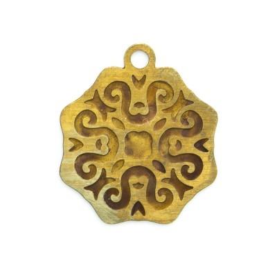 Detalhes do produto Pingente Mandala Octagonal 17,06mmx14,92mm
