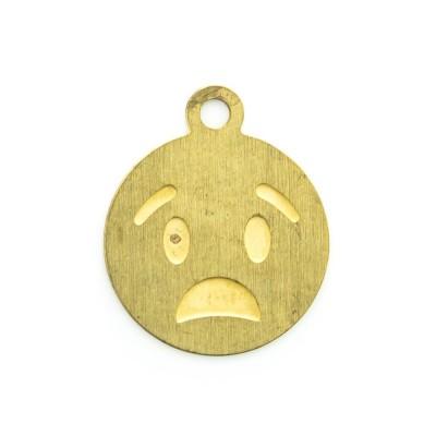 Detalhes do produto Pingente Emoji Chateado 12,77mmx10,63mm