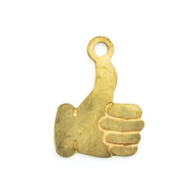 Detalhes do produto Pingente Emoji Mão Joinha 12,36mmx9,04mm