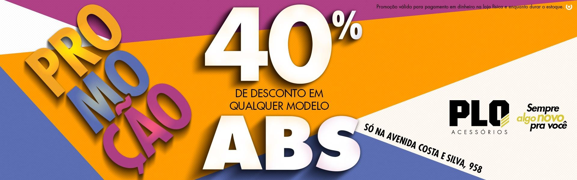 PROMO 40% ABS
