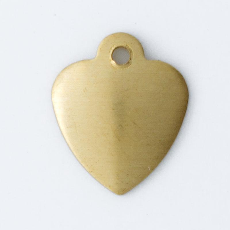 Coração abaulado 11,17mmx9,44mm