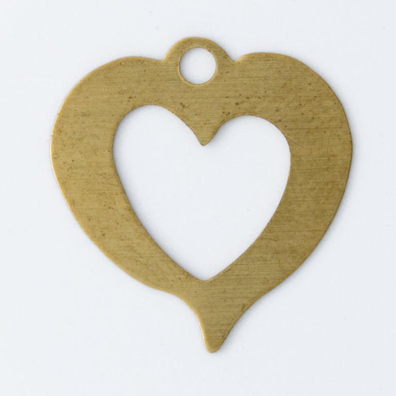 Coração vazado com argola 17,27x16,54mm