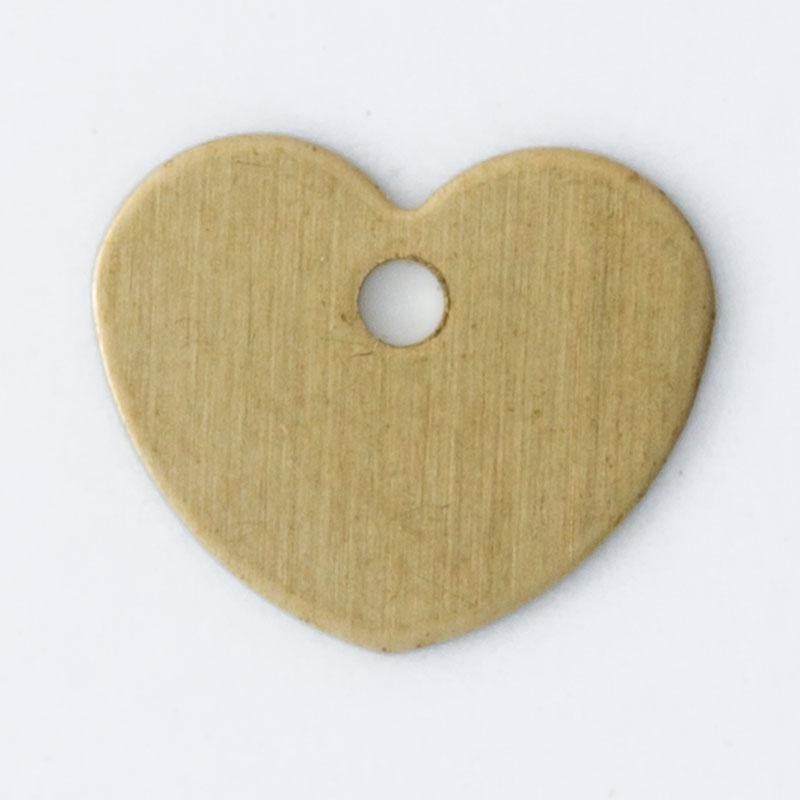 Coração com furo 7,20mmx8,73mm