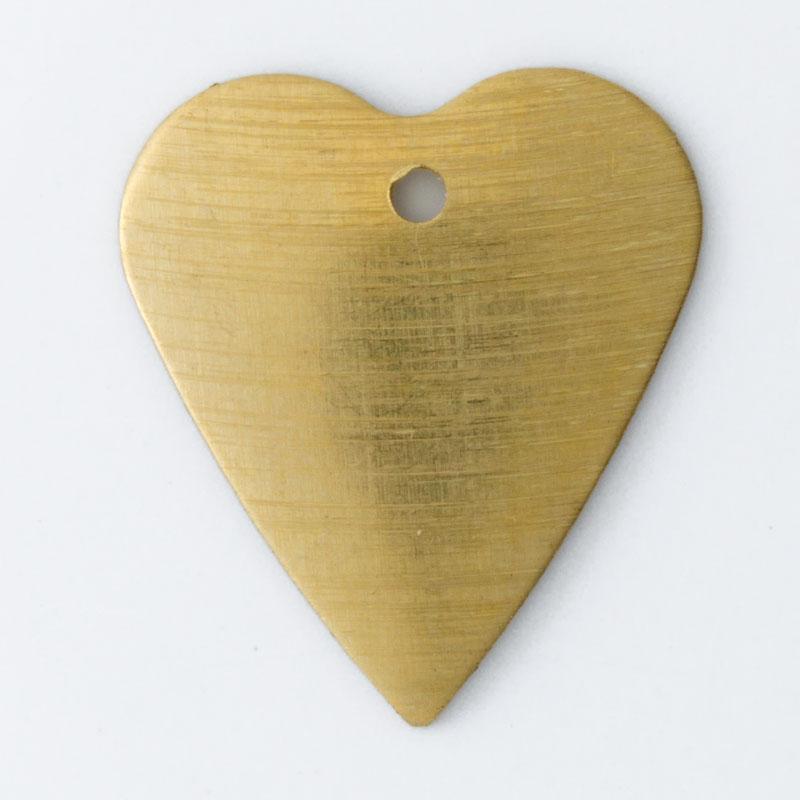 Coração com furo 18,33mmx16,15mm