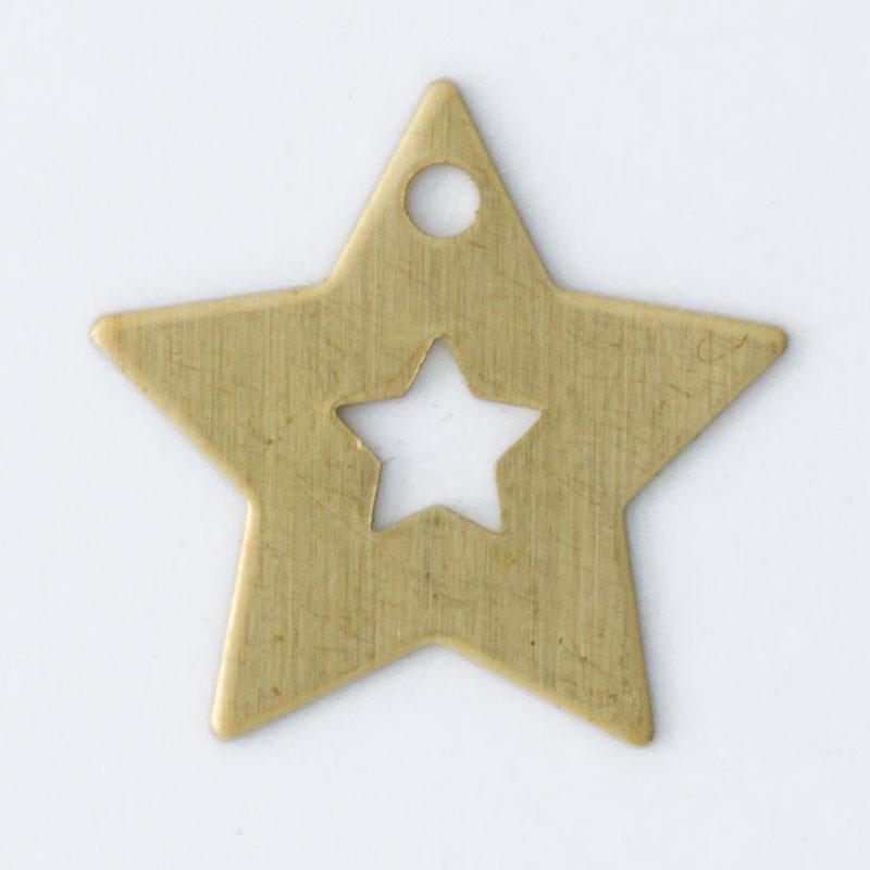Estrela com 1 furo 10,99mmx11,53mm
