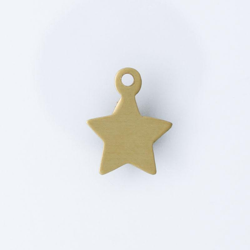 Estrela com argolinha 10,50mmx8,45mm