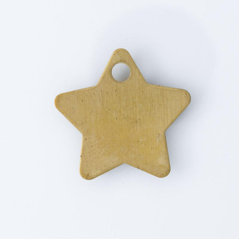 Estrela com furo 17,40mmx18,20mm