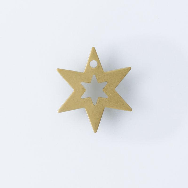Estrela com furo 12,40mmx10,80mm