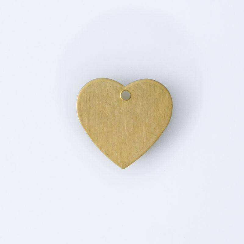 Coração com furo 10,00mmx10,60mm
