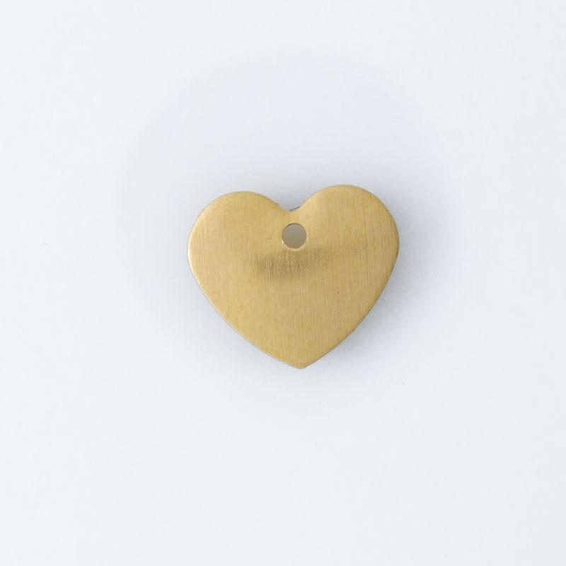Coração com furo 9,00mmx10,50mm