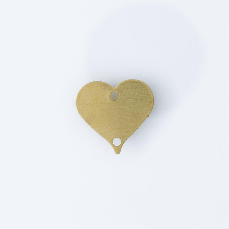 Coração com 2 furos 10,40mmx10,90mm