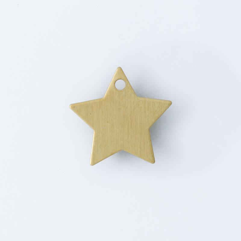Estrela com 1 furo 11,00mmx11,50mm