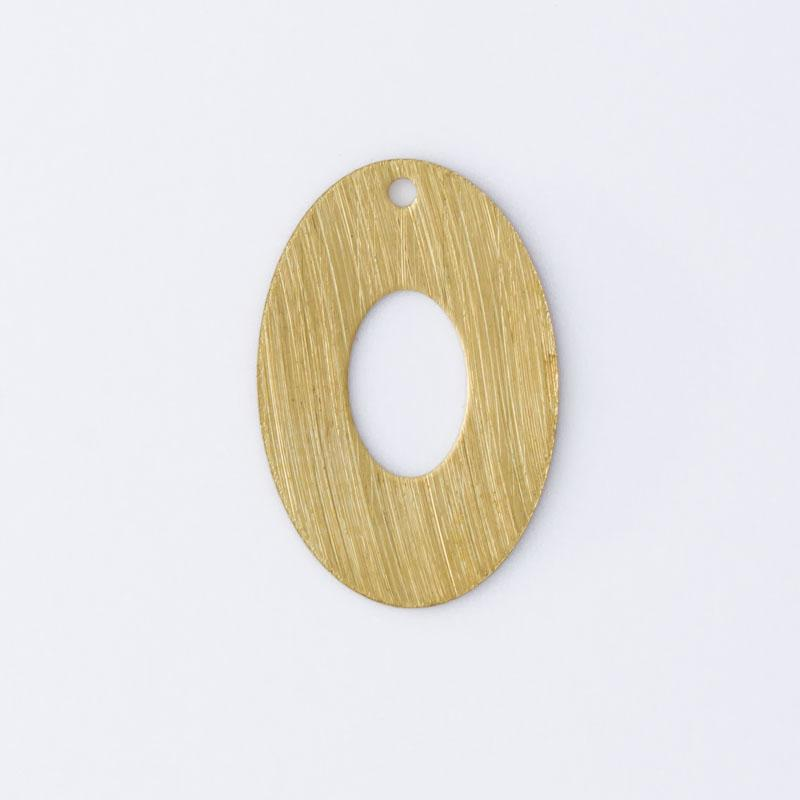 Oval com 1 furo 18,80mmx12,60mm
