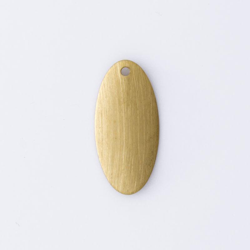 Oval com 1 furo 18,00mmx8,45mm