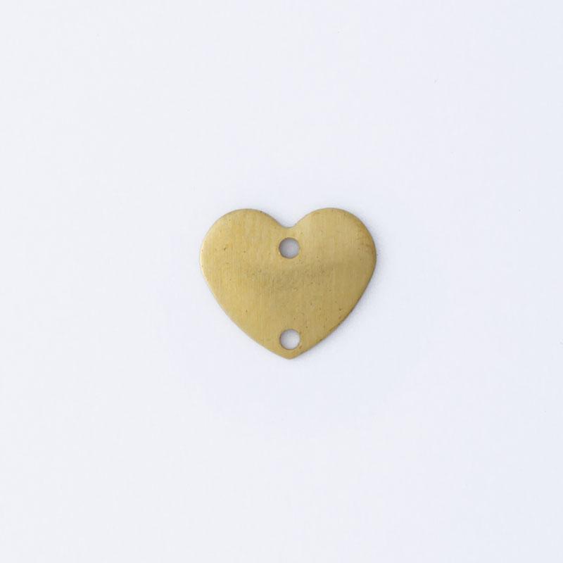 Coração com 2 furos 9,00mmx10,50mm