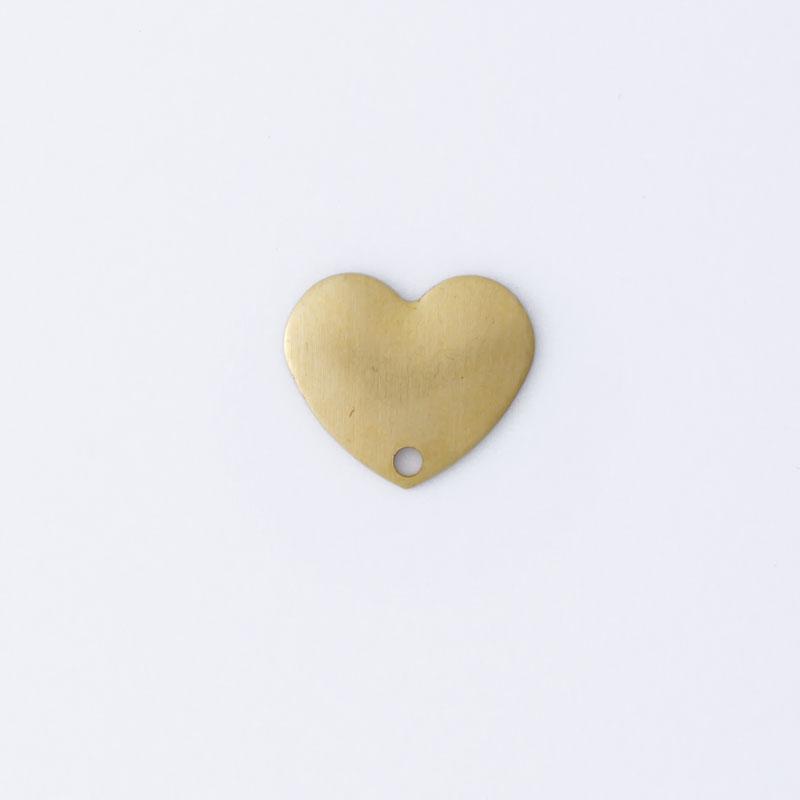 Coração com 1 furo 9,00mmx10,50mm