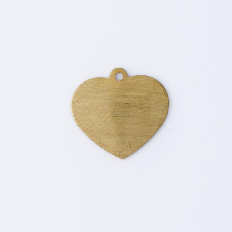 Coração com 1 argola 13,20mmx13,20mm