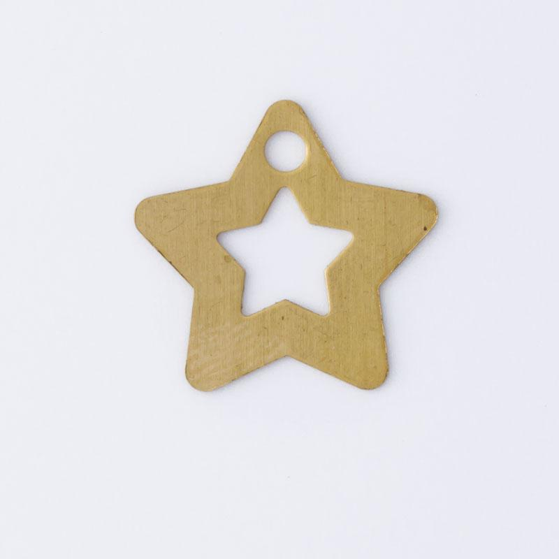 Estrela com furo 17,50mmx18,20mm