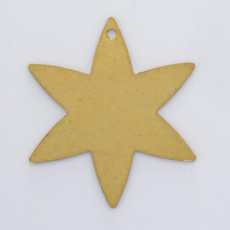 Estrela com furo 22,94mmx19,98mm