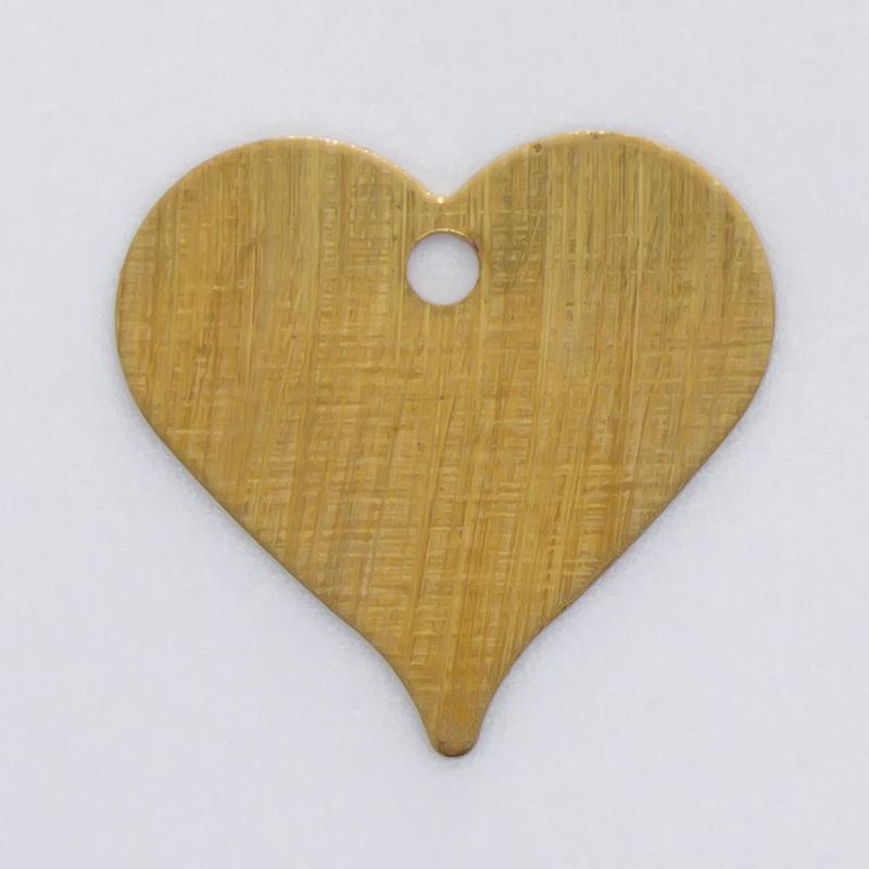 Coração com furo 10,40mmx10,92mm