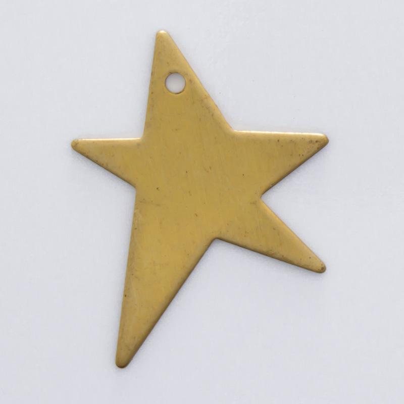Estrela com furo 19,00mmx15,66mm