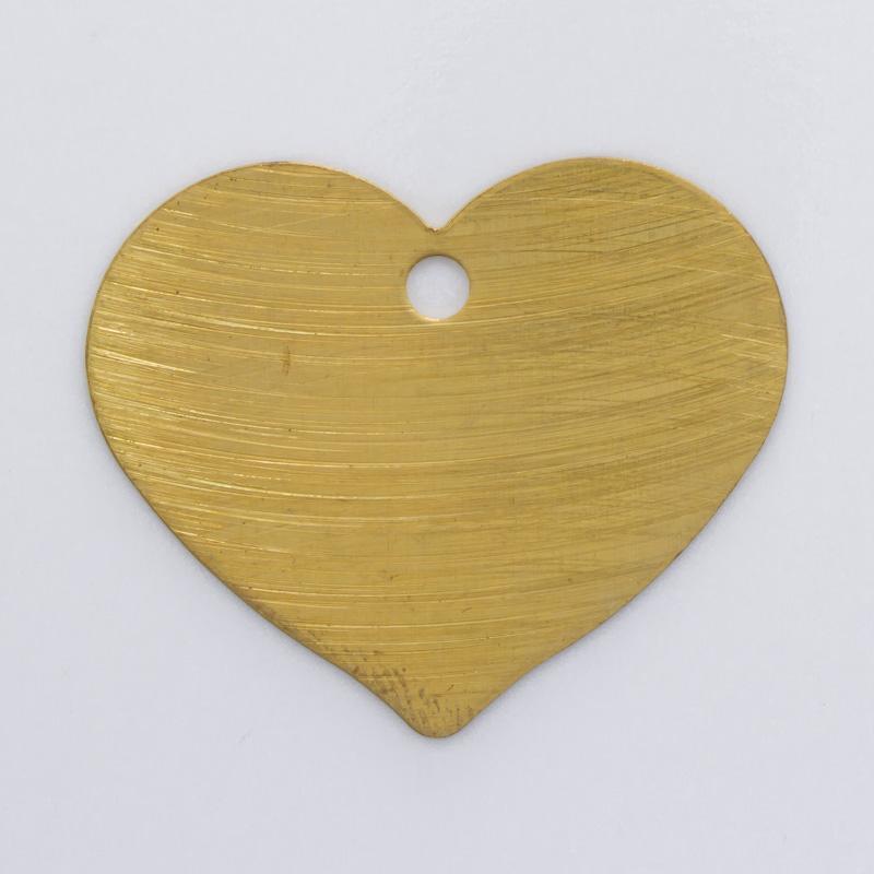 Coração com furo 22,73mmx27,46mm