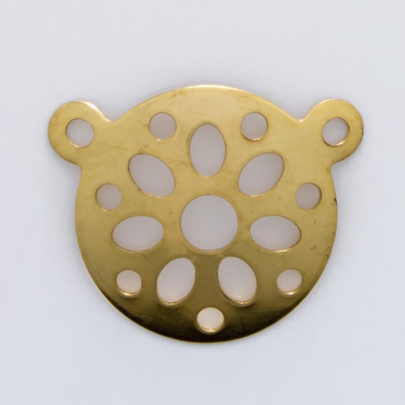 Mandala com 2 argolas 11,92mmx14,42mm