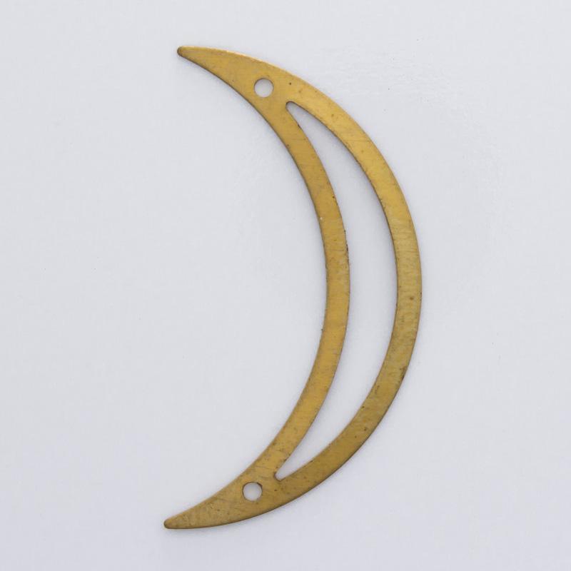 Meia lua vazada com 2 furos 30,70mmx15,80mm