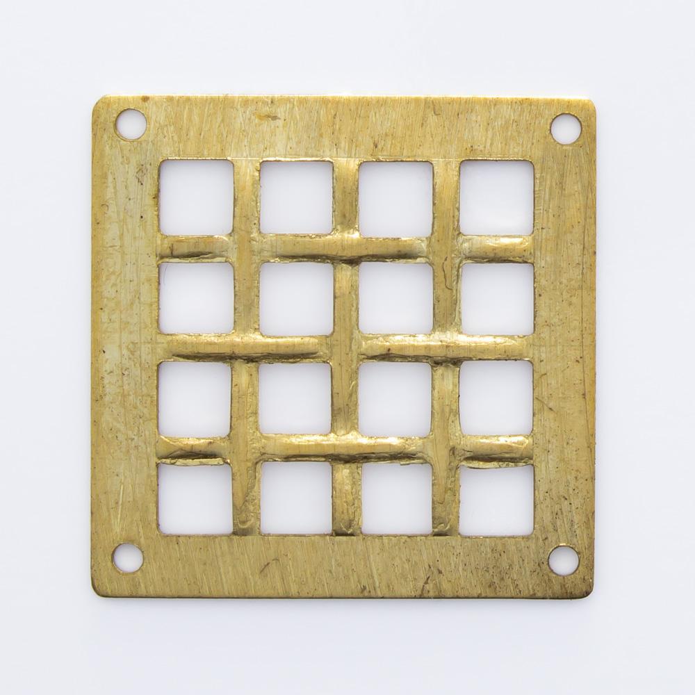 Quadrado com 4 furos 20,25mmx20,25mm