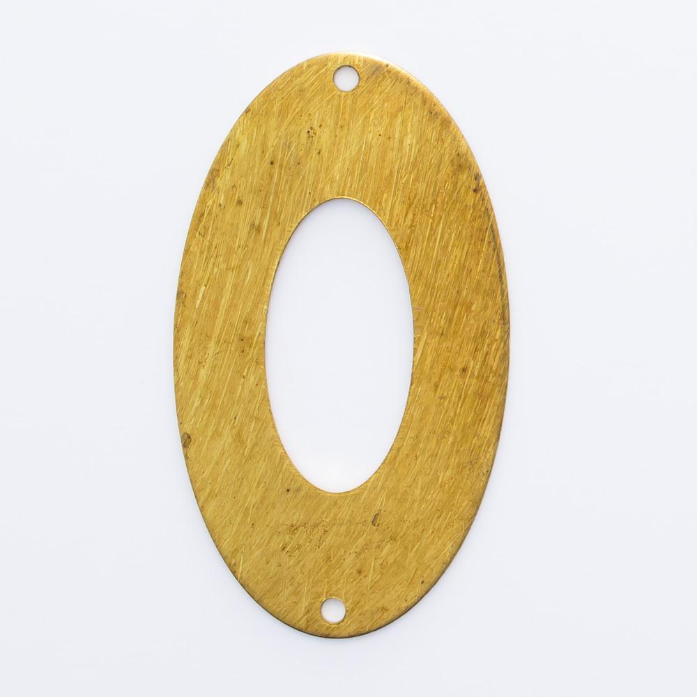 Oval vazado com 2 furos 28,17mmx16,23mm