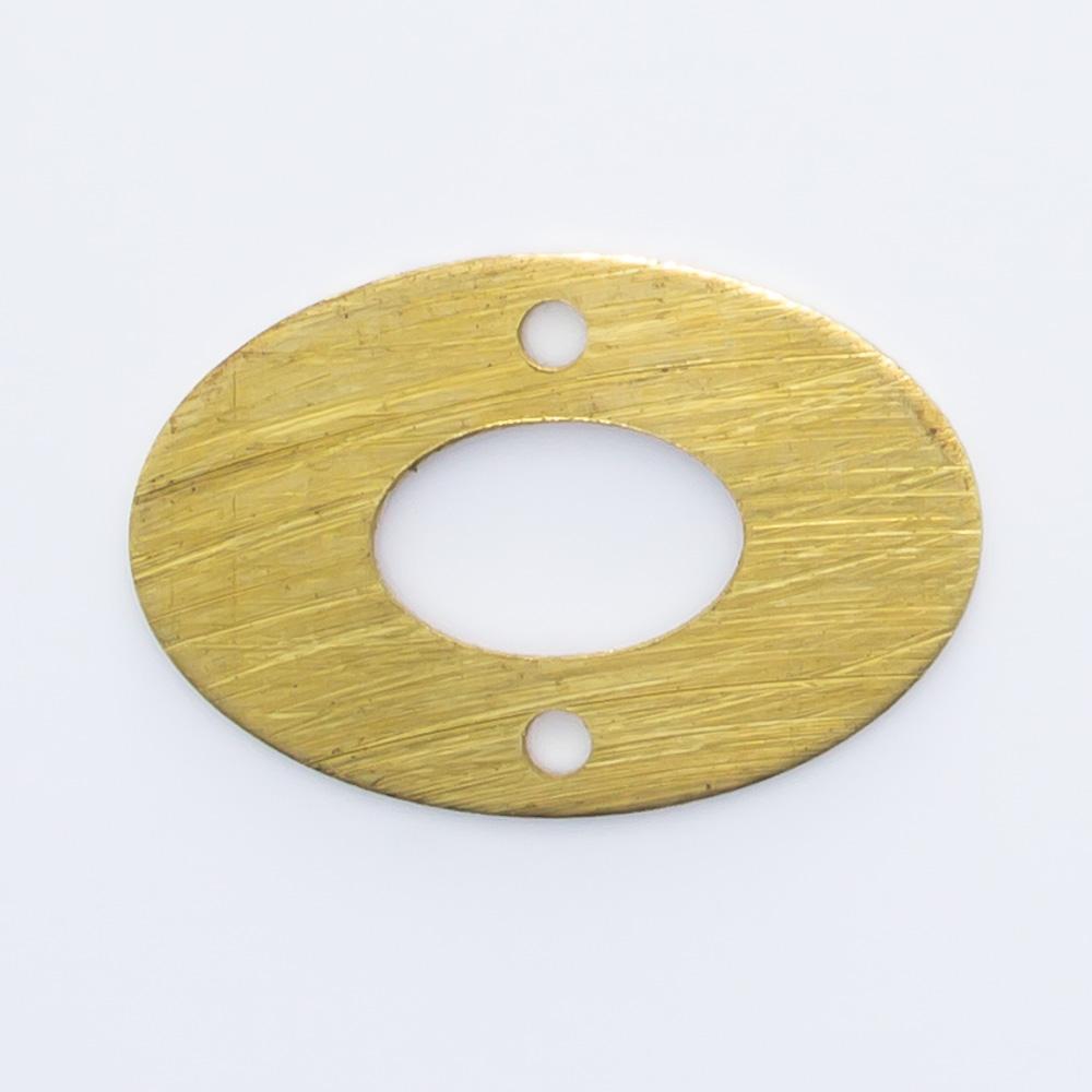 Oval vazado com 2 furos 10,07mmx15,15mm