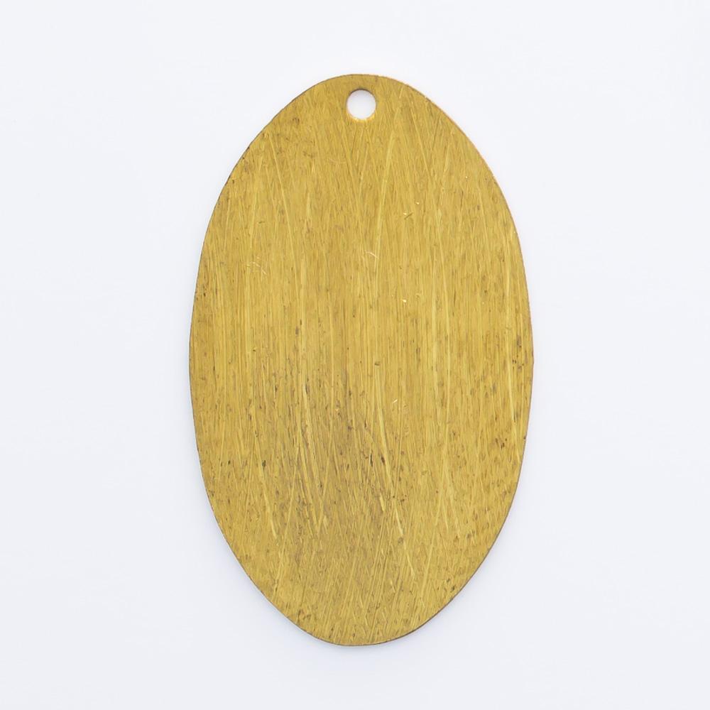 Oval com furo 23,36mmx14,02mm