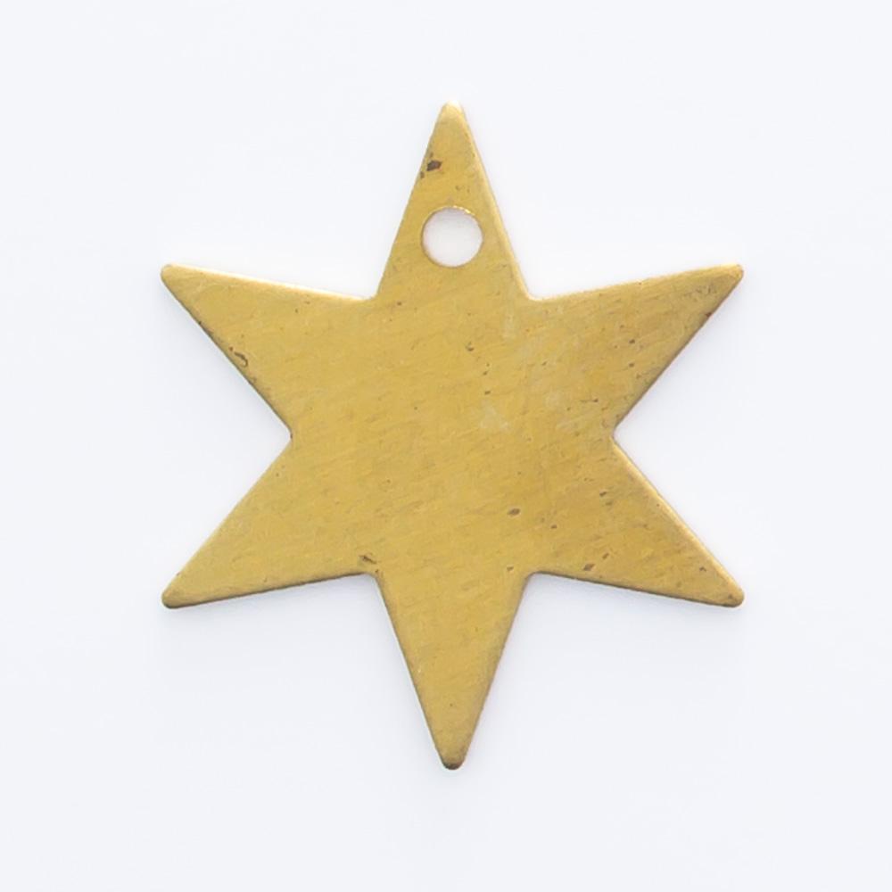 Estrela com furo 12,40mmx10,82mm