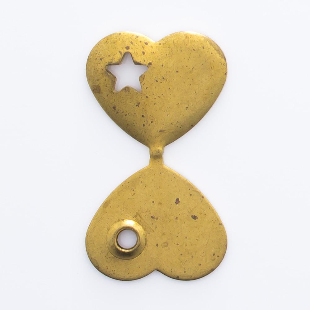 Coração dobrável com estrela 10,00mmx11,35mm