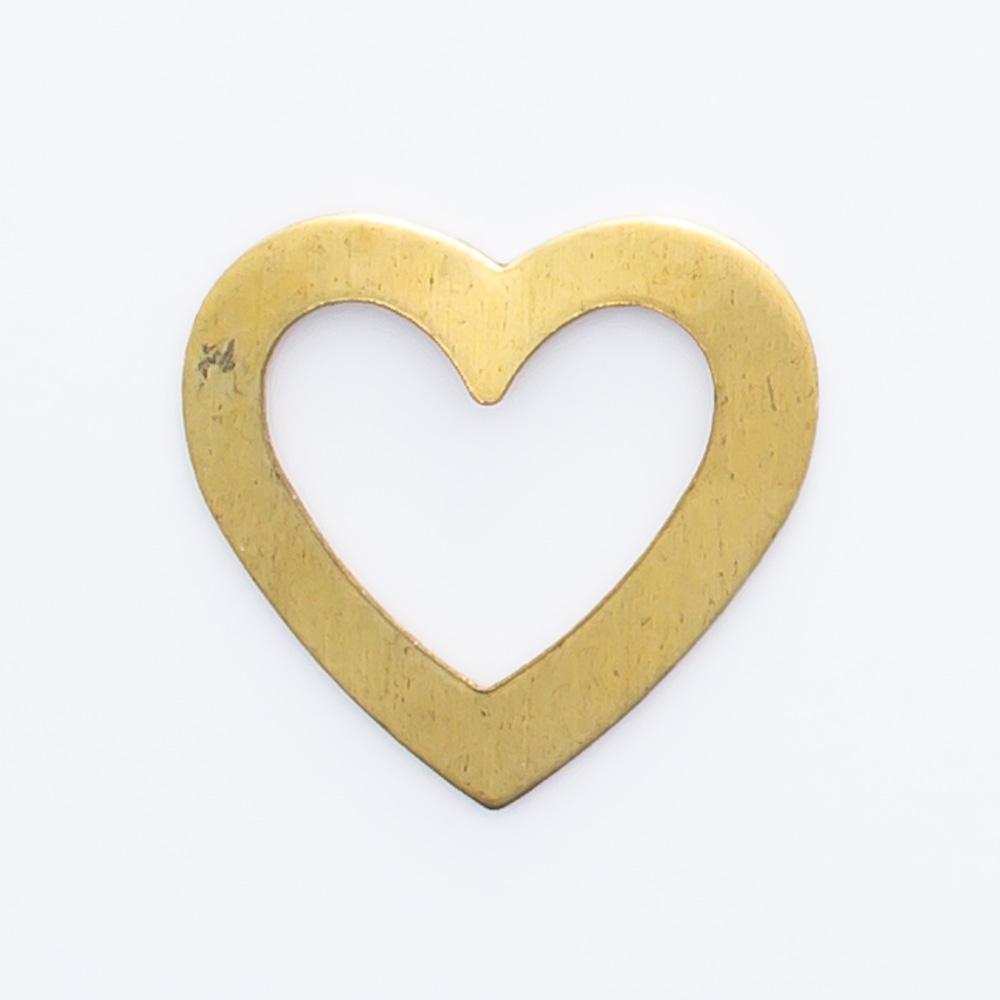 Coração vazado 10,00mmx10,65mm