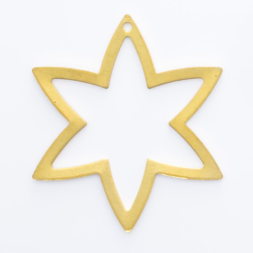 Estrela vazada com furo 28,70mmx25,00mm