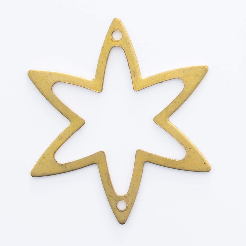 Estrela vazada com 2 furos 22,90mmx20,00mm