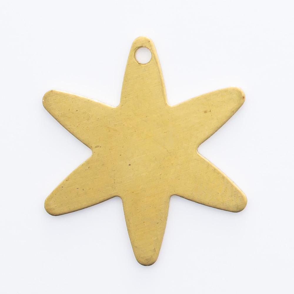 Estrela com furo 16,60mmx14,65mm
