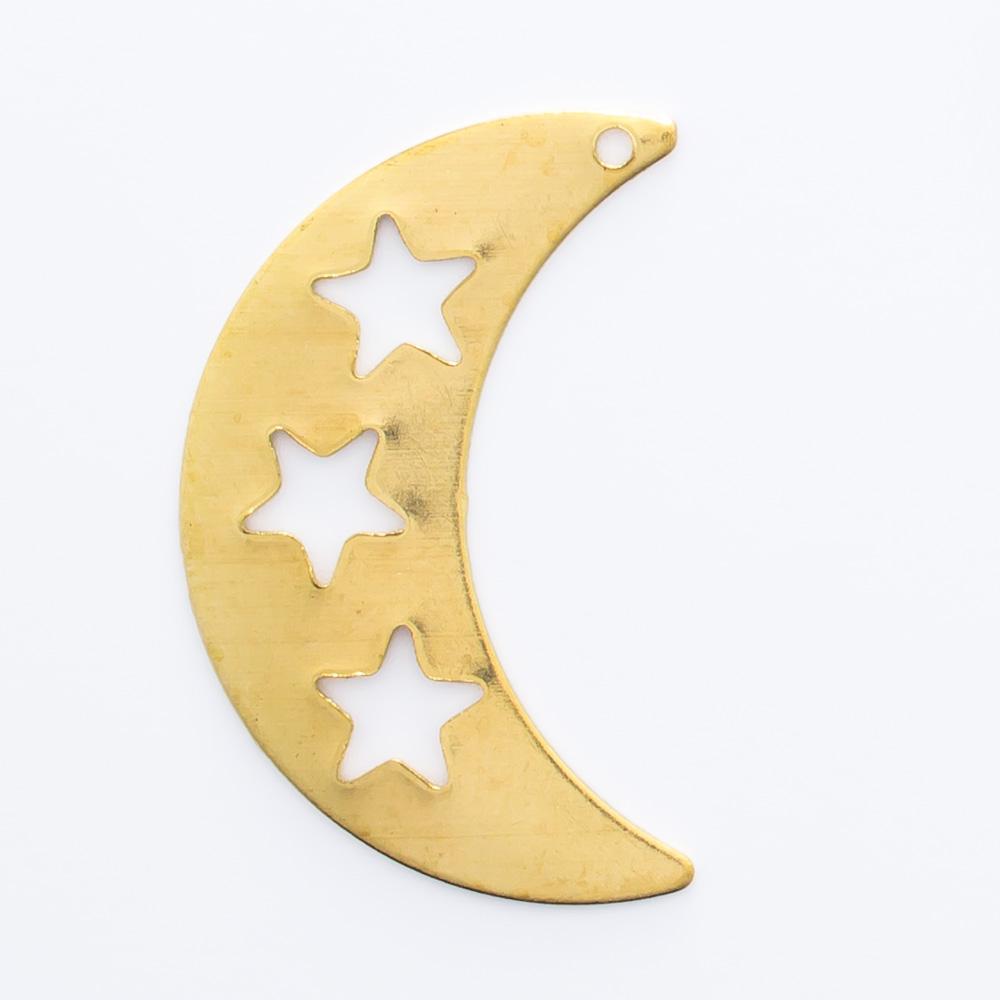 Lua vazada com furo 21,05mmx13,43mm