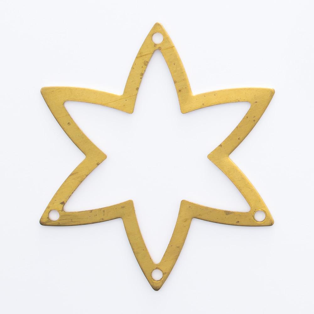 Estrela vazada com 4 furos 28,74mmx25,02mm